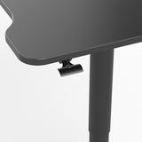 Small Gasspring Sit-Stand Desk - Single Leg Desk - 1 leg black