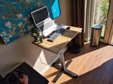 Small Electric Sit-Stand Desk - SteelForce 370 Single Column