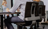 3Dee Premium Leer Aeris Actieve Bureaustoel veer swopper worktrainer.nl