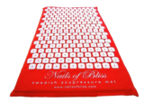 Nails of Bliss mini stamat standing spijkermat Zweedse Zweden Sweden acupressuur mat worktrainer.nl rood zwart workrainer.com