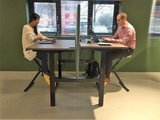 Double Electric Sit-Stand Desk - Honmove Duo - Stable double desk - Worktrainer.com