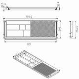 Pen drawer SL storage for desks Worktrainer.com