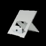 R-Go Riser Flexible Zilver Laptopstandaard | Worktrainer.nl