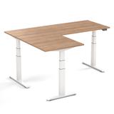 TWIN Electric Sit-Stand Corner Desk - SteelForce 671