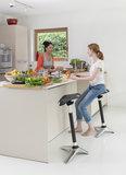 Ongo leunkruk Stand  |  beweegkruk | balanskruk | | wissel staan en zitten achter je bureau af | Worktrainer.nl