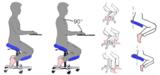rughouding stoel | balanskruk | wissel staan en zitten achter je bureau af | Worktrainer.nl