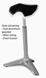 staand werken  |  beweegkruk | balanskruk | | wissel staan en zitten achter je bureau af | Worktrainer.nl