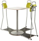 statafel met stastoelen staan achter je bureau | ergonomisch kantoormeubilair | Worktrainer.nl