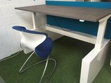dubbel zit-sta bureau met wangen