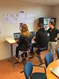 Deskbike in de les l Deskbike bureaufiets | Fiets je fit achter je bureau | Worktrainer.nl