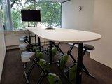 deskbike vergadering Wand muurtafel | kies voor een gezonde werkplek bezoek Worktrainer.nl