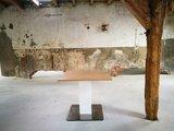 Bary zit-sta tafel - 1 kolom - havanna werkblad 100 x 100  | kies voor een gezonde werkplek bezoek Worktrainer.nl