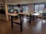 bench zwart frame   | wissel staan en zitten achter je bureau af | Worktrainer.nl