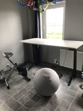 Y desk zwart met actief meubilair