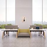 workbench oak desk  dubbel zit sta bureau | kies voor een gezonde werkplek bezoek Worktrainer.nl