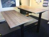 S2h Bench zit sta dubbel   | wissel staan en zitten achter je bureau af | Worktrainer.nl