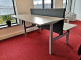 Steelforce 470 bench met tussenscherm | Worktrainer.nl