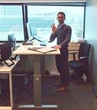 Aluforce 140 tevreden klant | wissel staan en zitten achter je bureau af | Worktrainer.nl