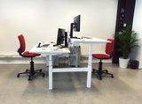 s470 bench met 3DEE stoelen alle accessoires bij je zit-sta bureau koop je online bij Worktrainer.nl