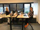 Dubbel zit-sta bureau met Deskbike   | wissel staan en zitten achter je bureau af | Worktrainer.nl