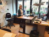 Aluforce 140 Zwart | wissel staan en zitten achter je bureau af | Worktrainer.nl