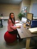 zitbal achter bureau