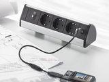 Opbouw Dock Desk alle accessoires bij je zit-sta bureau koop je online bij Worktrainer.nl