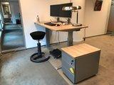 Rolblok bij S270 zit-sta bureau en Swopper