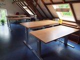 Aluforce 140 zit sta | wissel staan en zitten achter je bureau af | Worktrainer.nlbureaus