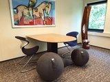 Vluv Stov met Oyo vergaderstoelen  | ergonomische zitballen | blijf in beweging op werk | Worktrainer.nl