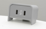 Chip on desk zilvergrijs | accessoires voor je werkplek bezoek Worktrainer.nl