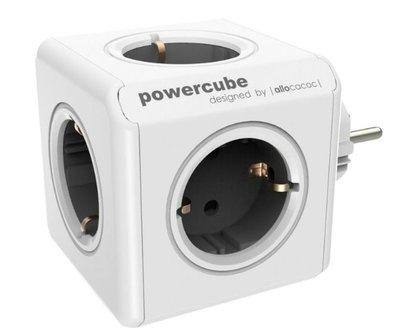 Opbouwmodule PowerCube vaste stekker 2 x USB Grijs