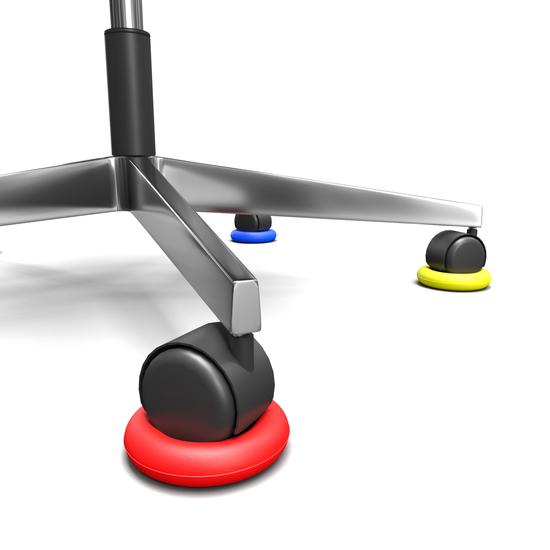 Anti slip ring voor stoelen met wielen