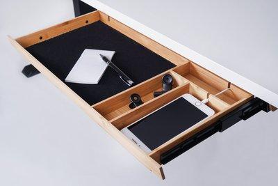Pennenlade Bamboe   Houten lade bureau   Bamboe lade voor onder je bureau   Pennenlade   Worktrainer.nl