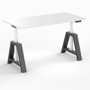Oak Desk   zit sta bureau   kies voor een gezonde werkplek bezoek Worktrainer.nl