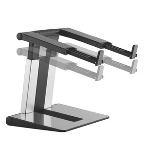 Laptop verhoger en laptopstandaard in hoogte verstelbaar   Accessoires voor je werkplek   Worktrainer.nl