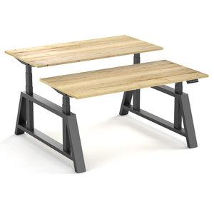 Oakdesk zit sta bureau met hout
