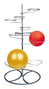 standaard voor zitballen | wissel staan en bewegend zitten achter je bureau af | Worktrainer.nl