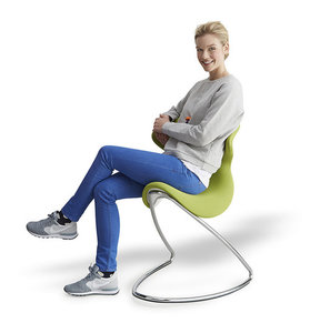 active furniture with backrest | wobble chair | ergonomic sitting | choose a healthy workplace | Worktrainer.com
