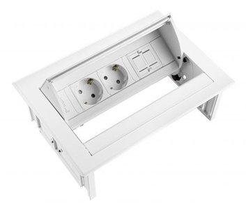 Inbouwunit Power Desk In Worktrainer.nl stekkerdozen