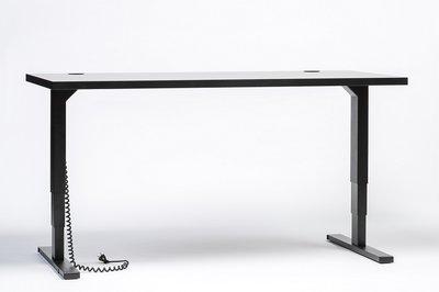 Zwart frame voorkant Elements zit sta bureau elektrisch | kies voor een gezonde werkplek bezoek Worktrainer.nl