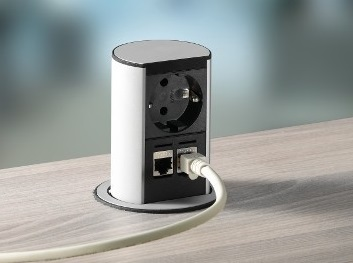Elevator inbouwunit stroom bureau | accessoires voor je werkplek bezoek Worktrainer.nl
